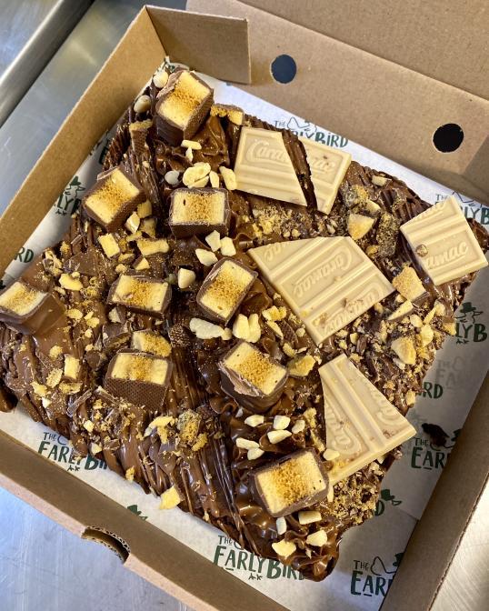 Large Brownie or Blondie with Personalised Topper